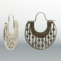 Vertical Saw-Pierced Earrings